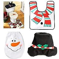Decoración de Navidad para el hogar de Santa WC 3pcs / lot de la cubierta de asiento Alfombra del ornamento