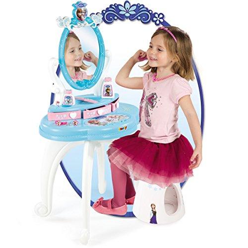 Frozen Schminktisch mit Hocker, drehbarem Spiegel und viel Zubehör – Frozen die Eiskönigin 91cm Kinder Frisier Tisch Schminktisch Kosmetik Spielzeug - 2