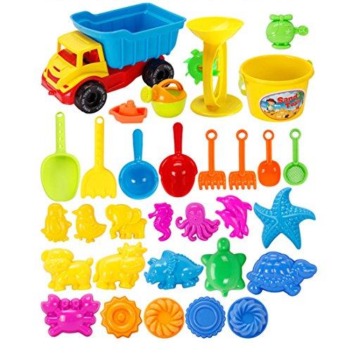 Sandspielzeug, OviTop 31er Set Kinder Sandspielzeug Sommer Kinder Sandstrand Fahrzeug Strand-Werkzeuge Set für Kinder ab 2 Jahre - DE8021