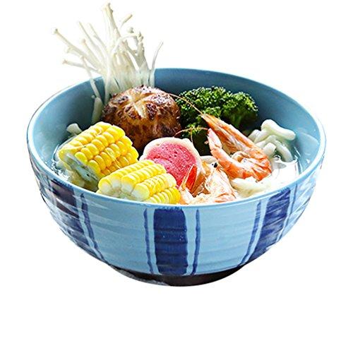 LXY Japanische Ramen Schüssel Haushalt Gericht Salat Schüssel Keramik Individualität Kreative Restaurant Große Suppe Schüssel Frühstück Instant Nudeln Schüssel Schüssel