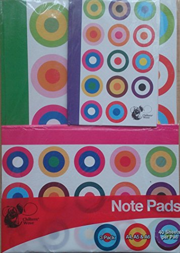 3Stück Note Pads A4A5A6