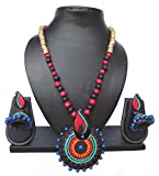 #5: Pentacrafts Terracotta Art Designed Women Girl Necklace Set, Color Multi