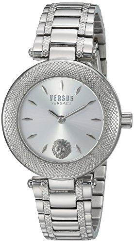 Versus Versace pour femme 'Brick Lane Combo Box' à quartz montre en acier inoxydable, les LED Offrent de couleur (modèle: Vsp712018)