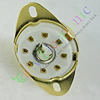 Cary 4pc Gold 8pin Ceramic Vacuum Tube Socket Octal Valve Base Fr 5b254 Audio Amp Diy