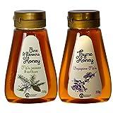 2 x Thymian und Pinien und Blüten Honig von Rhodos 250 g PET-Drückflasche