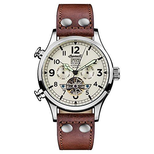 Ingersoll Herren Analog Automatik Uhr mit Leder Armband I02101