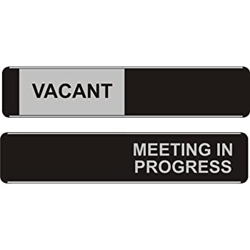 seco vacant meeting in progress sliding sign 255mm x 52mm