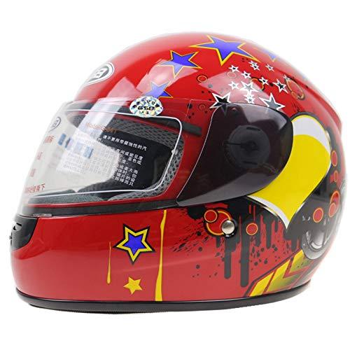 LOLIVEVE 3-12 Anni Casco Moto Da Bambino Casco Integrale Da Moto 6 Colori Disponibili Taglia 48-52 Cm Casco Moto Per Tutta La Stagione