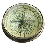 Seven Secrets Nautischen Stil Kompass | Kuppel Glas & Messing Schreibtisch Ornament | Marine Briefbeschwerer