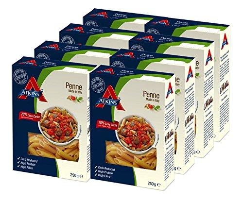 Atkins Pasta Cuisine Penne - Paquete de 8 x 250 gr - Total: 2000 gr