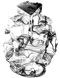 Loveternal Unisex 3D con Cappuccio Cinese Inchiostro Stampato Fresco Leggero Pullover Felpe con Cappuccio per Le Donne degli Uomini S/M