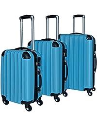 Lot de 3 valises renforcées set de voyage - 3 valises verrou - couleur au choix
