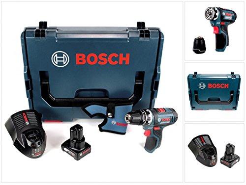 Preisvergleich Produktbild Bosch GSR 12V-15 FC Professional FlexiClick Akku Bohrschrauber mit 4 Ah Akku + Lader in L-Boxx