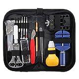 Yeshi Juego de herramientas para reparación de relojes (146 piezas)