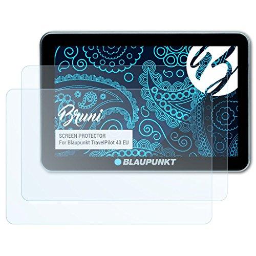 Bruni Schutzfolie für Blaupunkt TravelPilot 43 EU Folie, glasklare Bildschirmschutzfolie (2X)