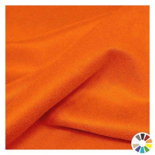 Mikrofaser-wildleder (TOLKO Kunstleder Meterware - Wildleder Alcantara-Imitat, Abriebfester Mikrofaser Polsterstoff, Möbelstoff als Sitzbezug, für Kissen (Orange))