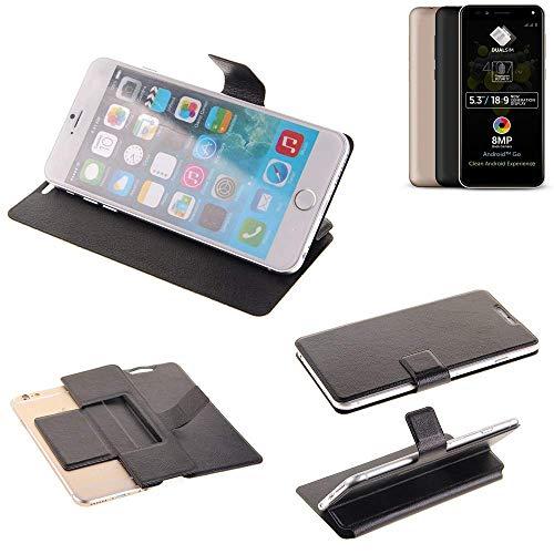K-S-Trade Schutz Hülle für Allview A9 Plus Schutzhülle Flip Cover Handy Wallet Case Slim Handyhülle bookstyle schwarz
