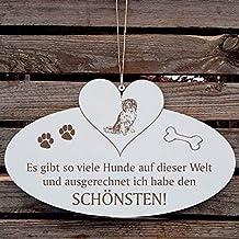 /« HAUSNUMMER STRASSE NAME mit NEDERLANDSE KOOIKERHONDJE /» als SCHIEFERTAFEL individuell gefertigt Schieferschild Hund