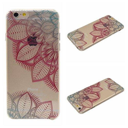 Apple iPhone 6/6S 4.7 Hülle, Voguecase Schutzhülle / Case / Cover / Hülle / TPU Gel Skin (Kirschblüten Serie-A) + Gratis Universal Eingabestift Bunte Blätter
