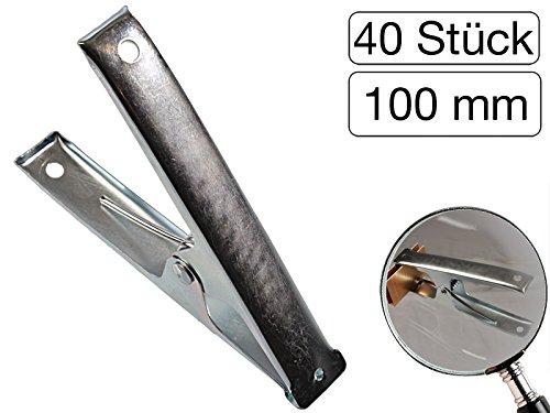 Lot de 40 pinces à ressort en métal 100 mm de long