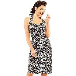 Looking Glam Body con Estampado De Leopardo Retro Wiggle Pin Up con Vestido