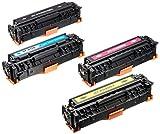Prestige Cartridge Toner Compatibile per HP CE410X CE411A CE412A CE413A, 4 Pezzi, Multicolore