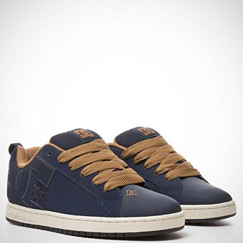 DC Shoes Court Graffik, Chaussures de skate homme Navy/Camel