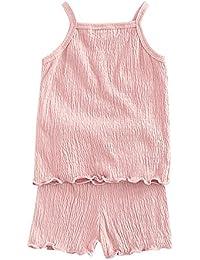 Brightup Ropa de casa 2 Piezas Pijamas Ropa de dormir Camiseta Sin mangas + Pantalones cortos