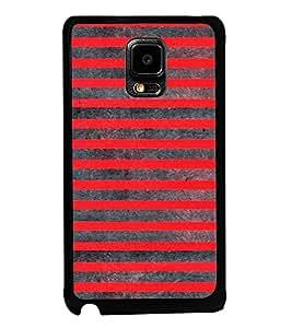 Printvisa Ultra Red Lines Pattern 2D Hard Polycarbonate Designer Back Case Cover for Samsung ...