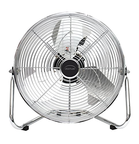 DOMAIR BA30CC - Ventilateur/Brasseur d'air à poser - Diamètre 30 cm - 48 Watts -3 vitesses - Débit d'air : 3317 m3/h - Inclinable - Chromé