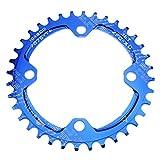 CYSKY Schmal Breit Kettenblatt 104BCD 36T Bike Single Kettenblatt für 91011Speed Road Bike Mountain Bike BMX (Blau)