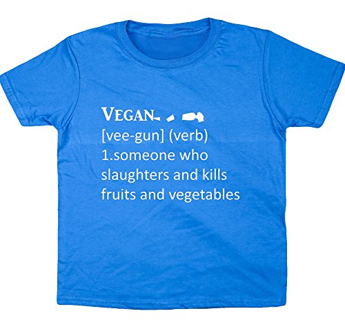 hippowarehouse-funny-definition-vegan-kids-t-shirt-a-manches-courtes-bleu-13-ans