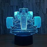 3d óptico Illusions Modelo de coche de carreras lámpara LED Luz de noche, Touch lámpara de mesa hogar decoración 7colores n-incomparable Efectos de luz para niños regalo de Navidad