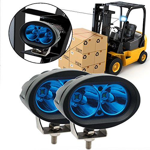 Für Led-licht-paket Tacoma (20 Watt Oval Blau Motorrad LED Nebelscheinwerfer CREE Arbeitsscheinwerfer Spot Strahl Fahrscheinwerfer Scheinwerfer 12 V für Offroad Auto Lkw ATV SUV Blat JK (2er Pack))