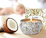 La Jolíe Muse Duftkerze Vanille Kokosnuss 100% Sojawachs Kerze in Dose 185g 45Std Geschenk Für Muttertag - 2