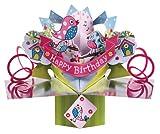 Second Nature POP063 Pop Up Grußkarte zum Geburtstag pink