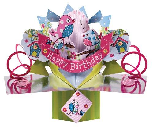 Second Nature POP063 - Biglietto di auguri in 3D per compleanno, rosa