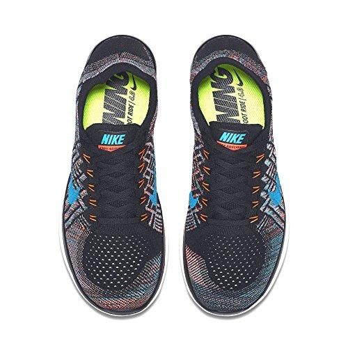 Nike Free 4.0 Flyknit Herren Laufschuhe Schwarz / Orange / Dunkelblau / Weiß (Black / Hyper Orange-Copa-Bl Lgn)