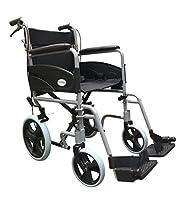 Ultra Lightweight Folding Transit Travel Transport Wheelchair With Handbrakes