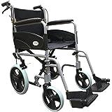 De plegado de viaje de peso ligero con filtro UV durante el transporte de cerámica mochila para silla de ruedas de piel sintética con los frenos de mano