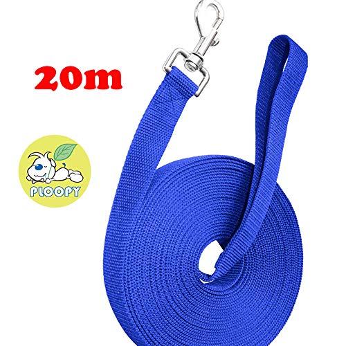 Ploopy guinzaglio da addestramento per cani, guinzaglio da addestramento per cane lungo (20m, blu)