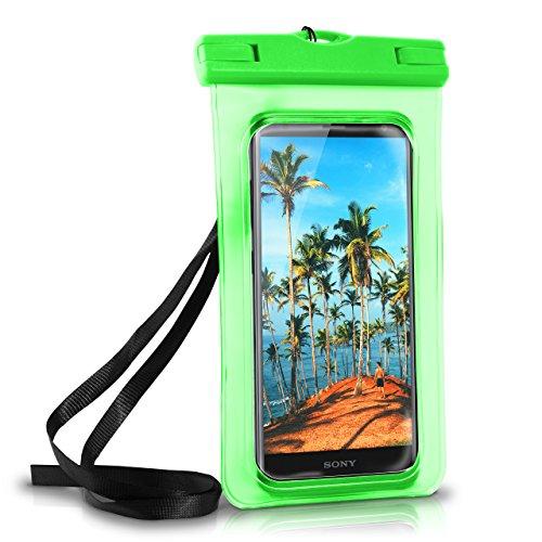 MoEx Wasserdichte Hülle für Sony | Full Cover in Grün OneFlow 360° Unterwasser-Gehäuse Touch Schutzhülle Water-Proof Handy-Hülle für Sony Xperia XA1 XZ2 Z5 Z3 Compact Z X A UVM Case Handy-Schutz