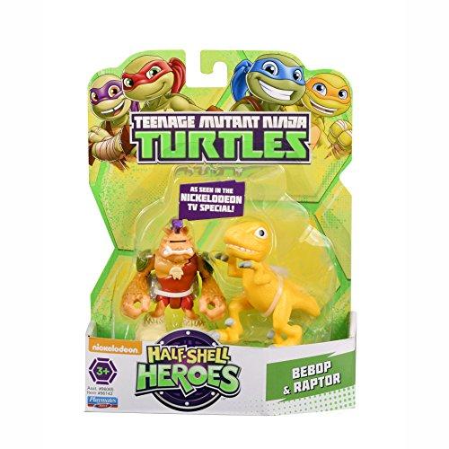 Teenage Mutant Ninja Turtles Teenage Mutant Ninja Turtles Pre Cool Half Shell Heroes Dino Bebop and Raptor Figures