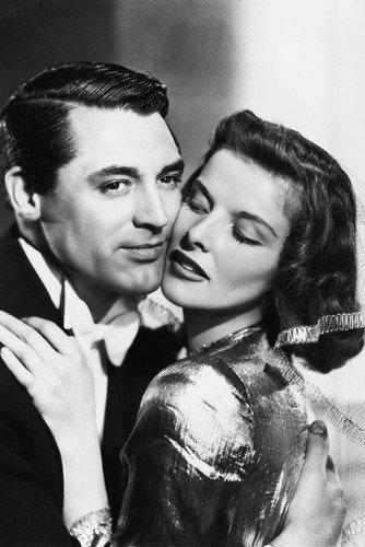 Moviestore Katharine Hepburn als Susan Vance unt Cary Grant als Dr. David Huxley in Bringing Up Baby 91x60cm Schwarzweiß-Posterdruck -