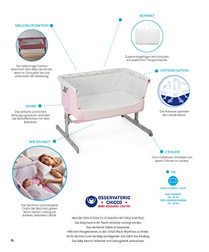 Chicco Next 2Me Cradle, Choice of Colours