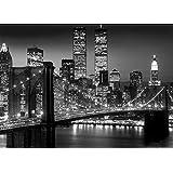 Poster Gigante New York Brooklyn Bridge Night
