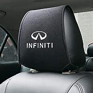 2pcs Car Seat Headrest Cover,For Infiniti Fx35 Q50 Q30 Esq Qx50 Qx60 Qx70 Ex Jx35 G35 G37 All Models, Auto Int