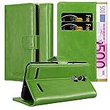 Cadorabo Hülle für Lenovo K6 / K6 Power in Gras GRÜN - Handyhülle mit Magnetverschluss, Standfunktion & Kartenfach - Case Cover Schutzhülle Etui Tasche Book Klapp Style