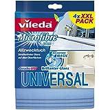 Vileda 116359 Universel Lavette Multiusages Coton Multicolore 4 pièces 13 x 13 x 3 cm