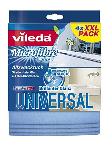 Vileda universale multiuso panno in microfibra, 4er Packung